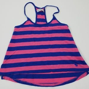 Abercrombie Top size Small Pink Stripe Kids